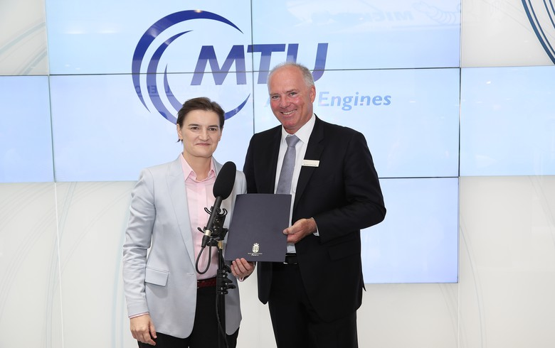 MTU Aero Engines to set up repair facility in Serbia's Nova Pazova