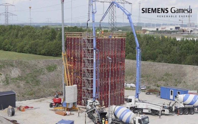 Siemens Gamesa starts building gigantic turbine blade test stand