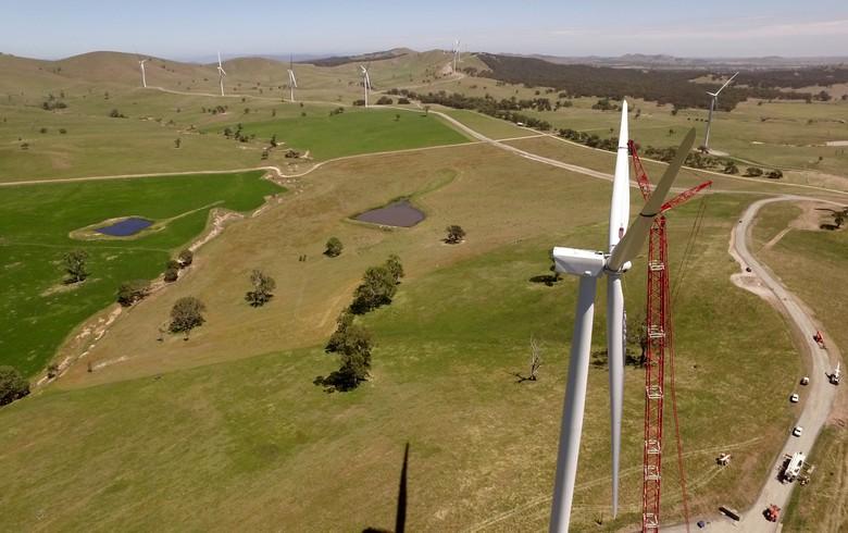 All turbines spinning at Australia's 240-MW Ararat wind farm