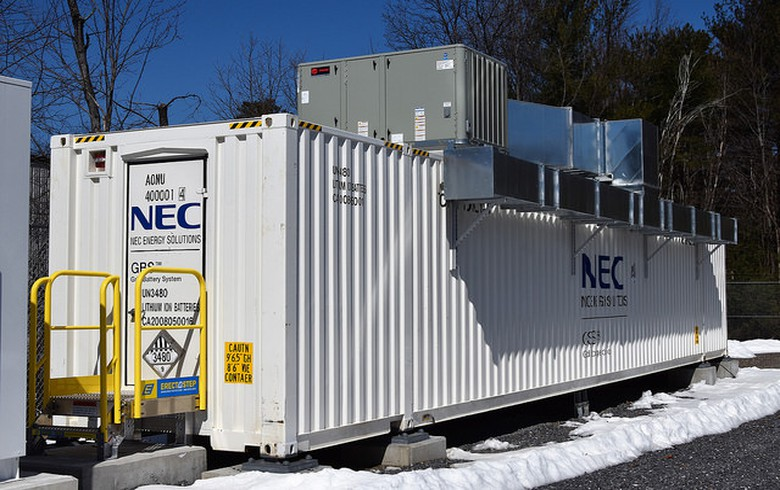 NEC switches on 2-MW energy storage system in Chile