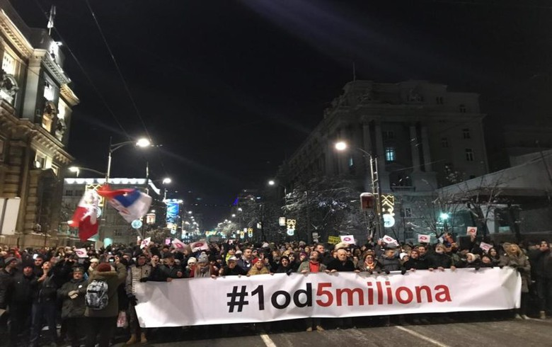 Anti-government protests spread across Serbia