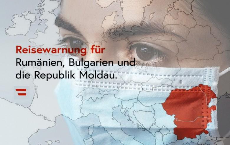奥地利问题为罗马尼亚,摩尔多瓦,保加利亚崛起的罗马尼亚的旅行警告在Covid-19案件上升