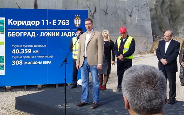 Serbia opens for traffic Obrenovac-Ljig motorway section