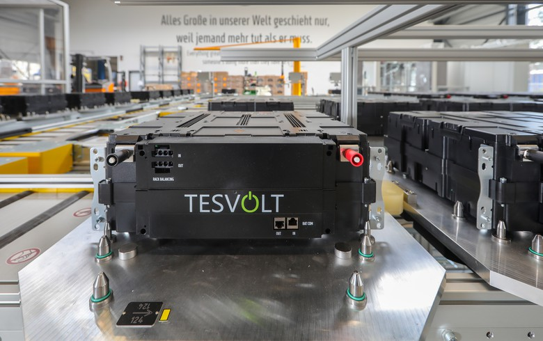 Tesvolt launches production at battery gigafactory in Germany