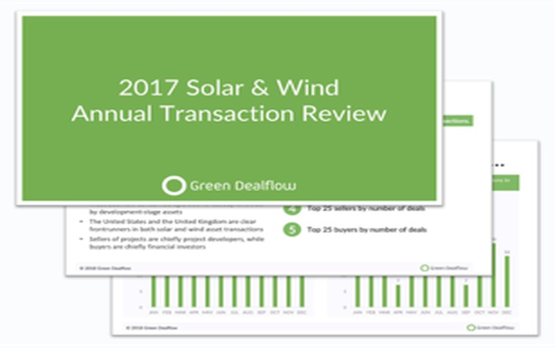 OVERVIEW - US, UK lead solar and wind asset deals in 2017