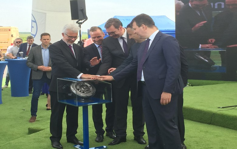 Germany's ZF Group opens 160 mln euro EV parts factory in Serbia