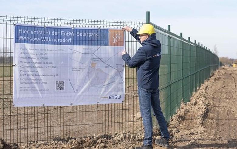 EnBW starts work on 187-MWp PV farm near Berlin