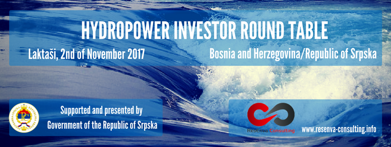 Hydro Power Investor Round Table, 2nd of November 2017 at Hotel San