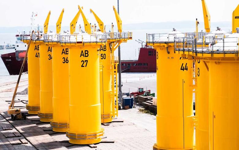Foundation installation starts at Arkona wind park