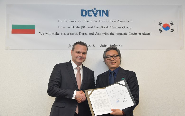 Bulgarian water bottler Devin signs distribution deal with South Korean co