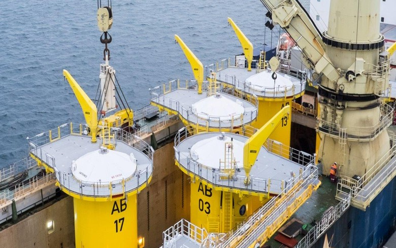 Foundations in place at Arkona wind park in Baltic Sea