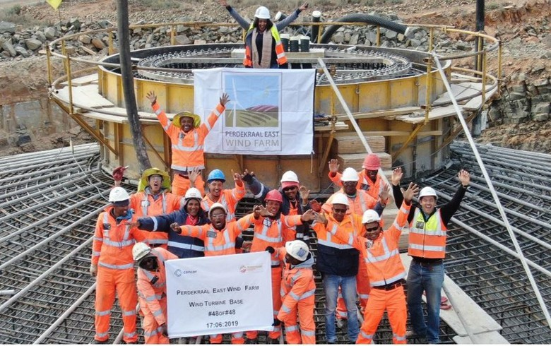 Mainstream completes foundations at 110-MW wind farm in S Africa