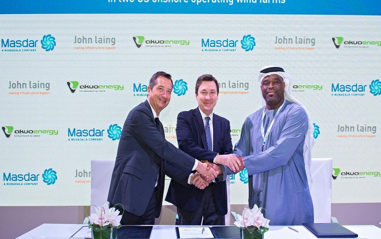 Masdar buying John Laing's interest in 179 MW of US wind farms