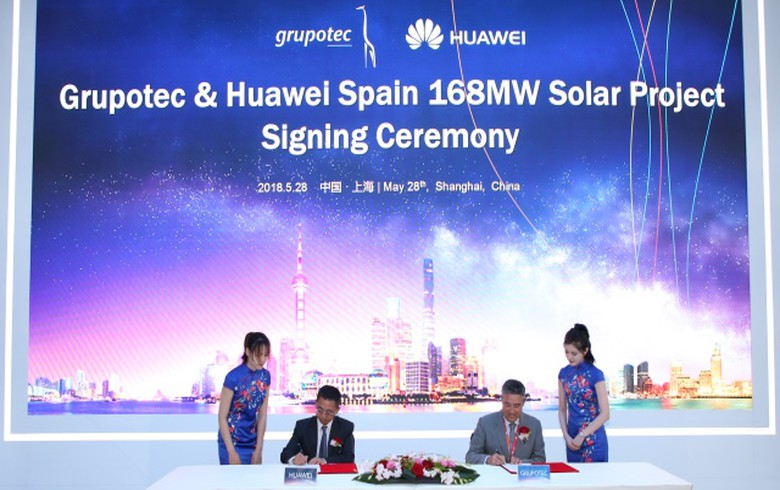 Huawei to supply inverters for 168 MW of Grupotec solar projects in Spain