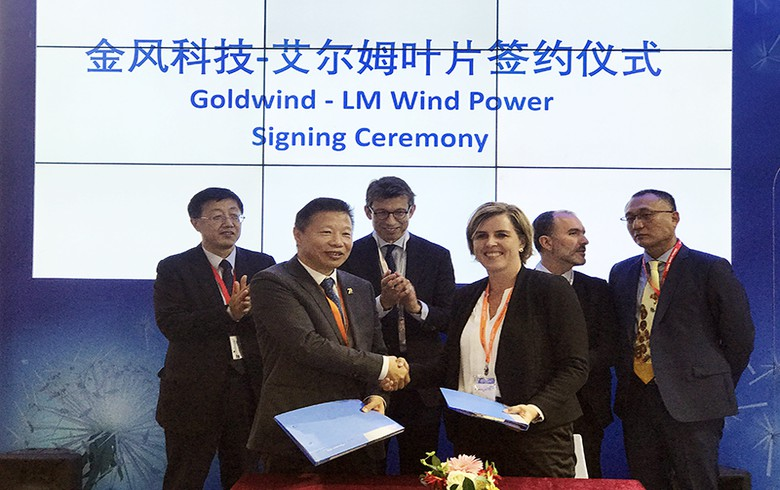 LM Wind scores 1.1-GW blades contract with China's Goldwind