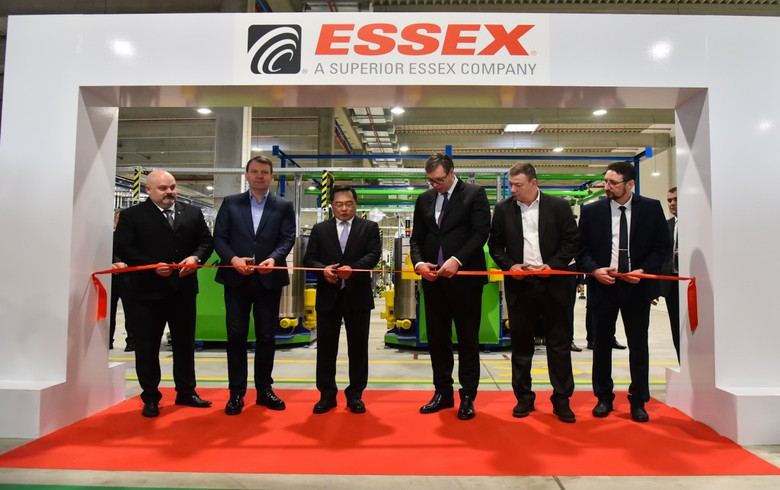 US-based Superior Essex opens factory in Serbia's Zrenjanin