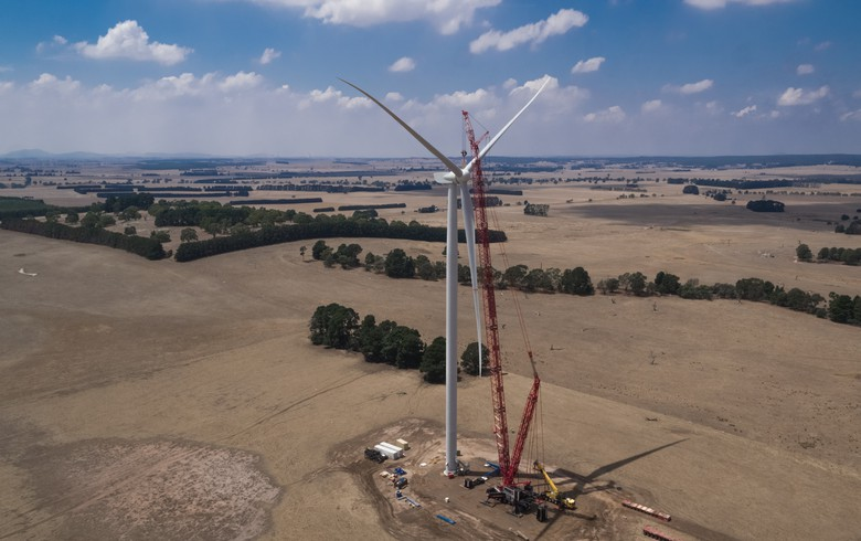 Goldwind's 530-MW Aussie wind farm sends 1st power to the grid