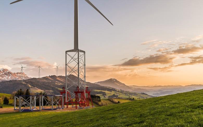 UPDATE - Nabrawind installs 160m prototype of self-erecting wind tower