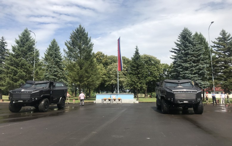 TR delivers two armoured vehicles to Bosnia's Serb Republic police