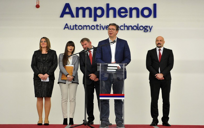 U.S.-based Amphenol opens car electronics factory in Serbia