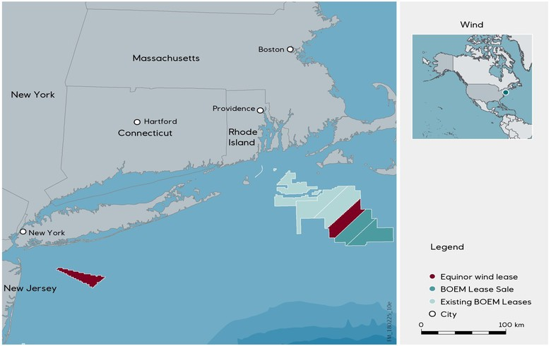 Equinor successful in Massachusetts' offshore wind lease sale