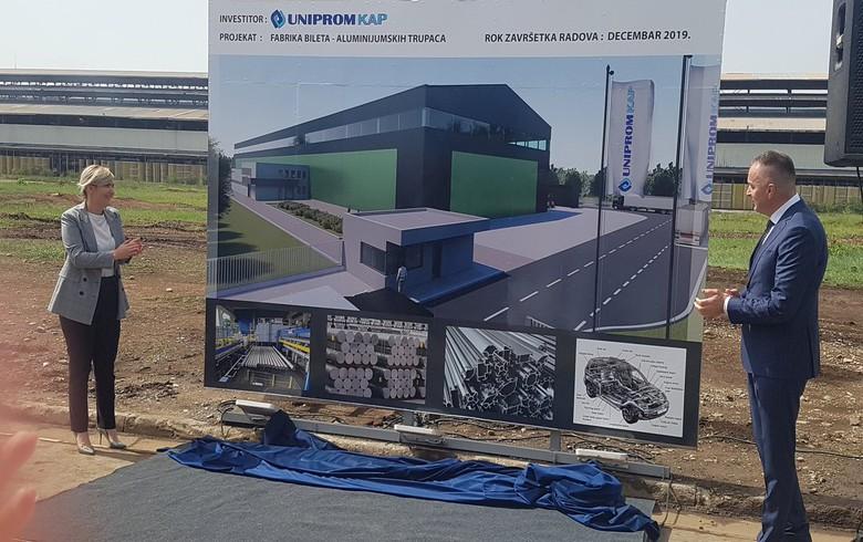 Montenegro's Uniprom starts aluminium billets unit construction