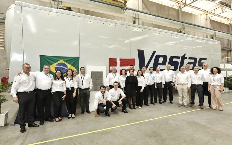 Vestas cuts ribbon on new turbine factory in Brazil