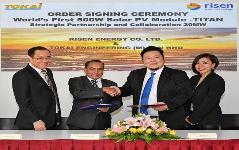 Risen Energy bags Malaysian deal for 500-W solar modules