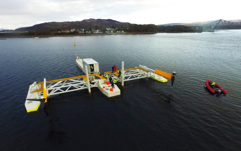 SME deploys floating tidal energy platform for tests in Scotland