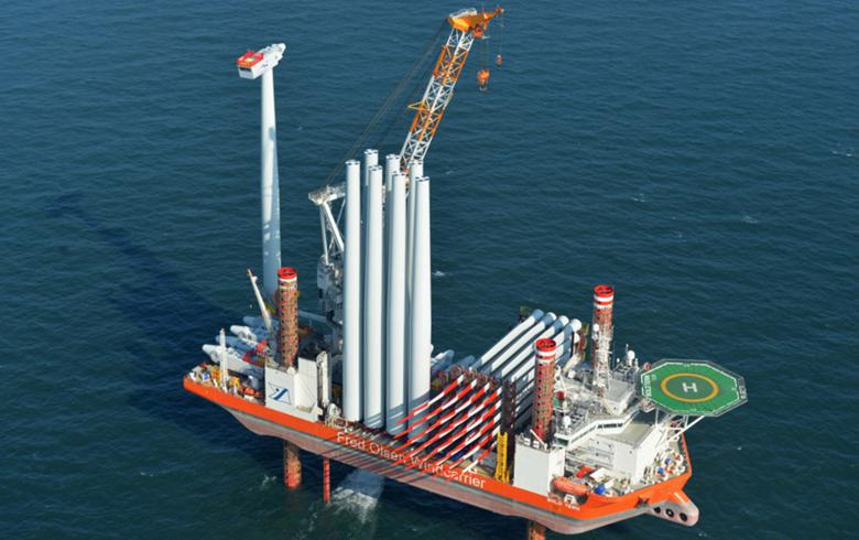 Fred. Olsen Windcarrier wins offshore wind installation job in Taiwan