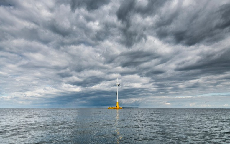 Floating offshore wind turbine goes live off France