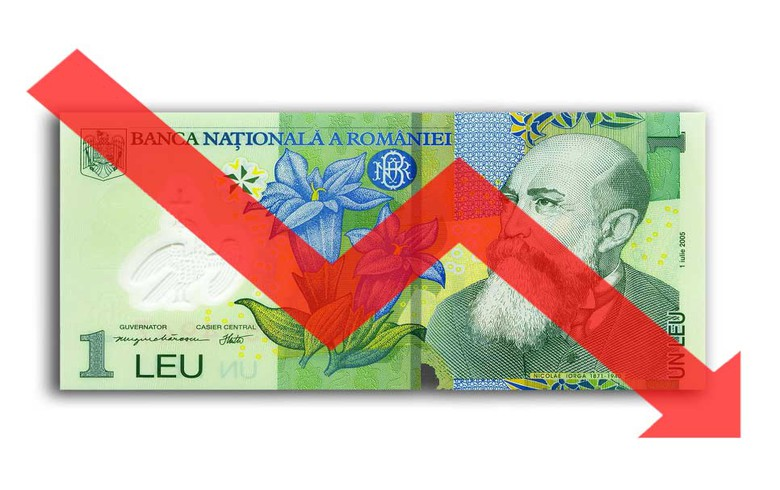 Romanian leu hits new all-time low against euro