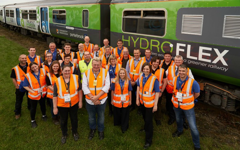 UK's 1st hydrogen-fuelled train to undergo mainline tests