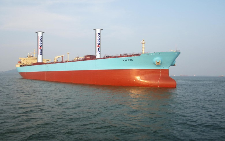 Maersk tanker to test using wind to save fuel