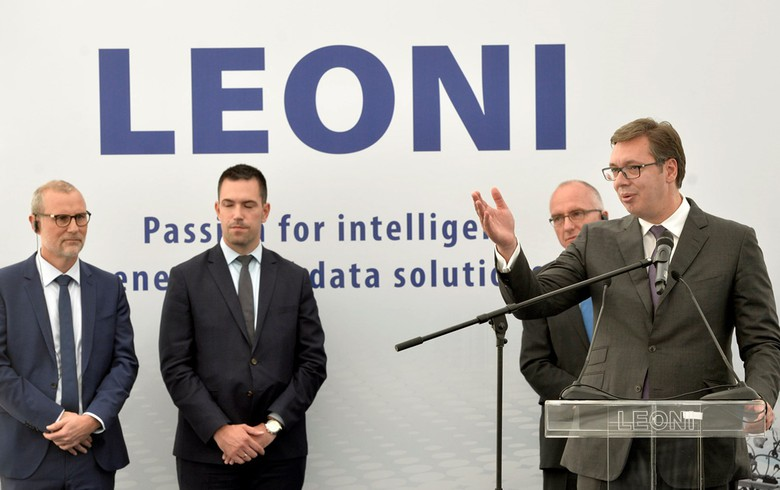 Germany's Leoni breaks ground for 60 mln euro plant in Serbia