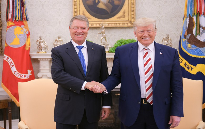 Trump, Romania's Iohannis discuss energy, defence