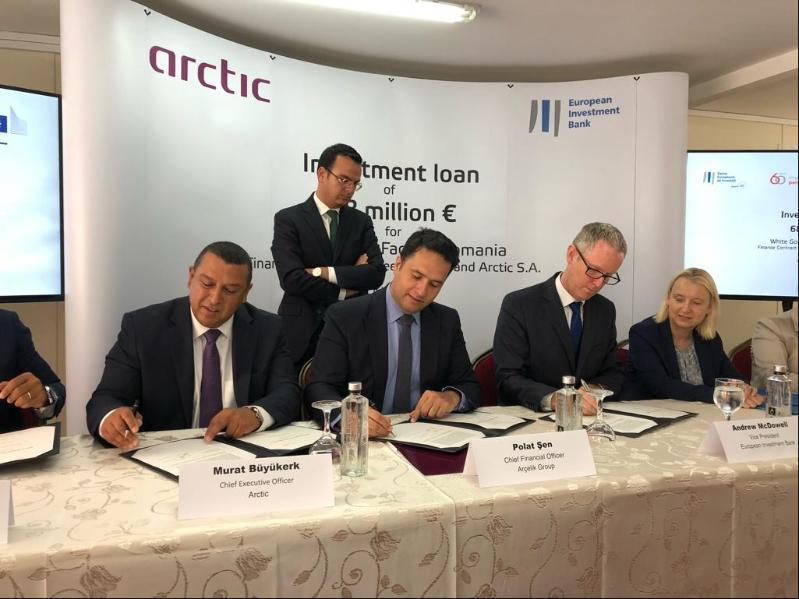 EIB lends 68 mln euro to Arctic for washing machine factory in Romania