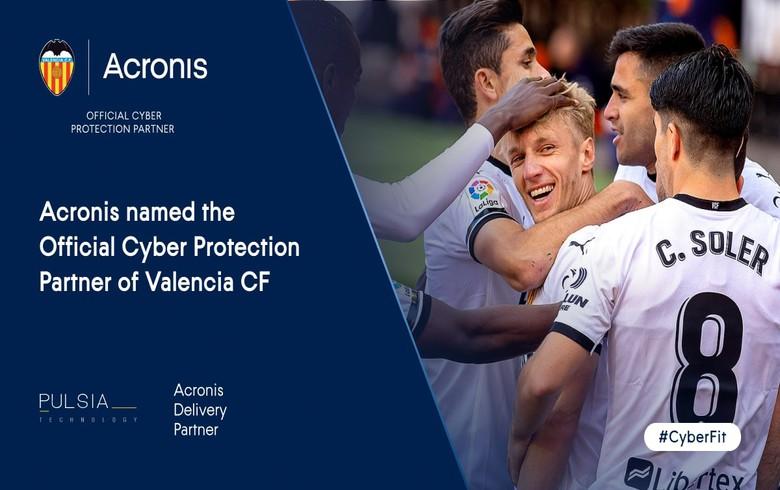 "Valencia CF合并Acronis为新的""官方网络保护合作伙伴"""