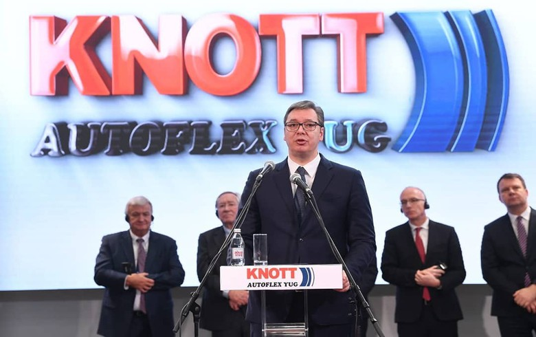 Serbian unit of Germany's Knott invests 7.5 mln euro in galvanizing facility