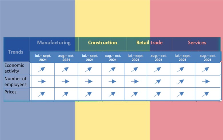 Romania's Aug business sentiment positive in all sectors - survey