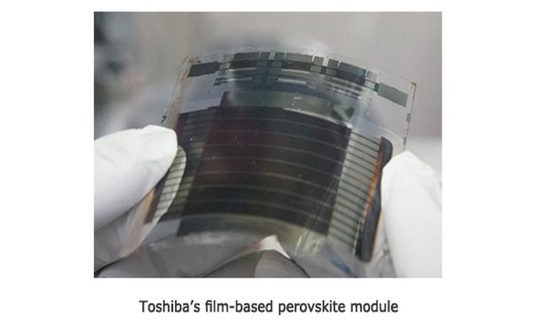 Toshiba achieves record efficiency for film-based perovskite mini module