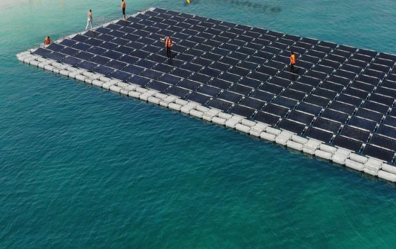 UAE's 1st floating PV array to go live near Abu Dhabi resort island
