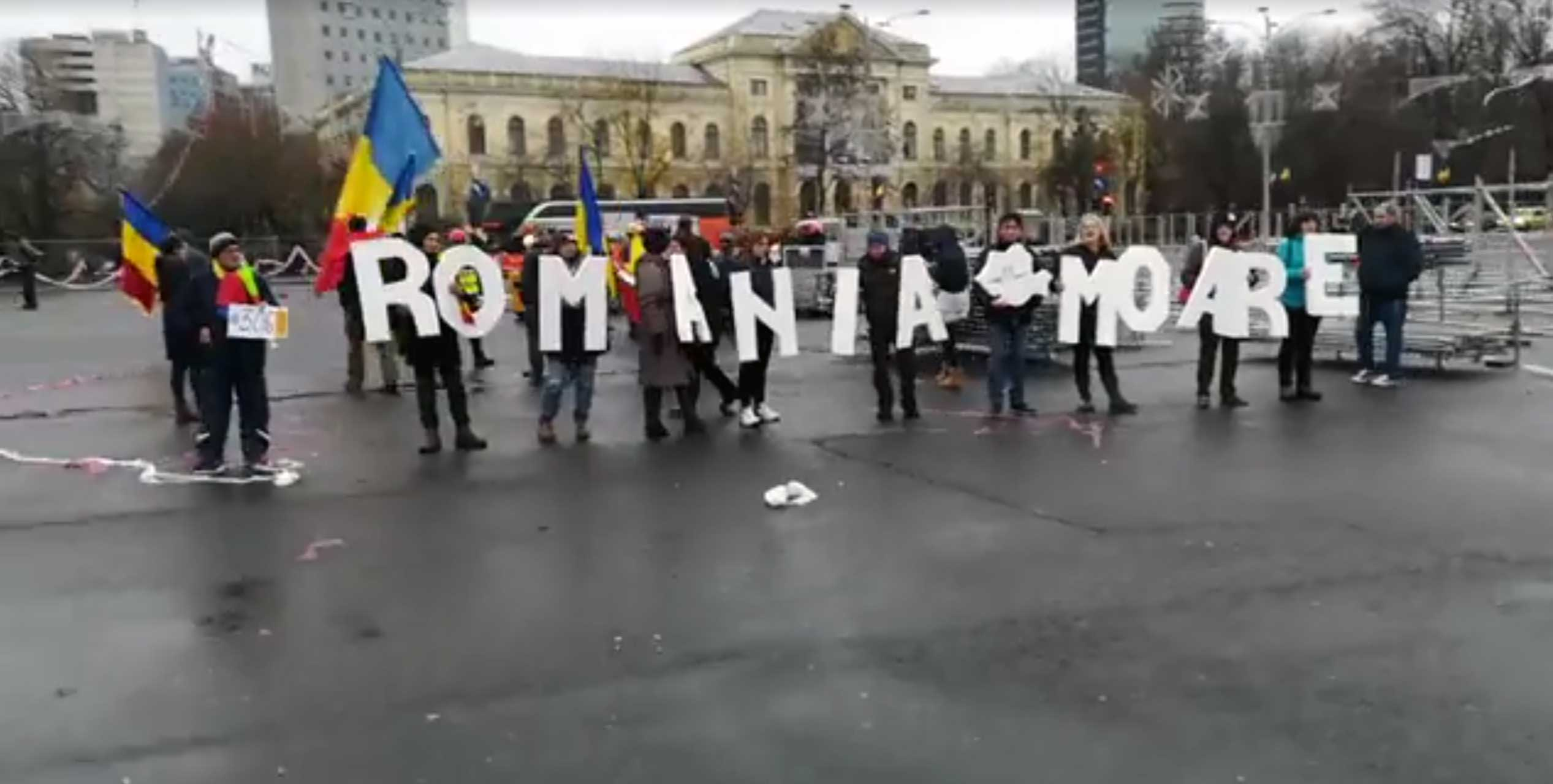 Romanians again protest against fiscal, judicial changes (VIDEO)