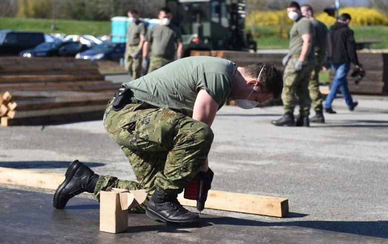 Croatian army building tent camp in Zagreb to prepare for coronavirus spread