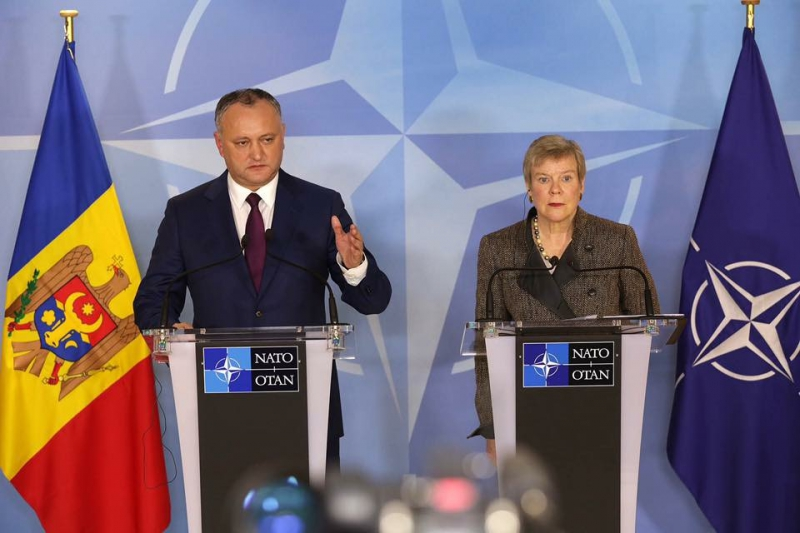 Moldovan president opposes NATO office in Chisinau, might consider referendum