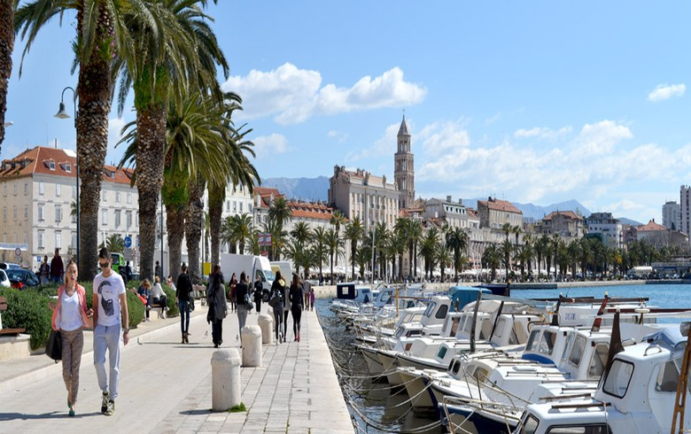 Tourist arrivals to Croatia's Split up 11% y/y in H1
