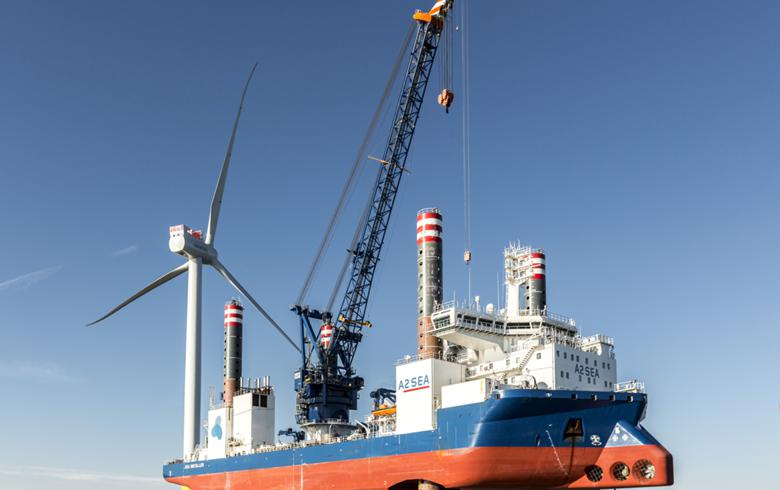 A2Sea vessel starts work at Race Bank offshore wind farm