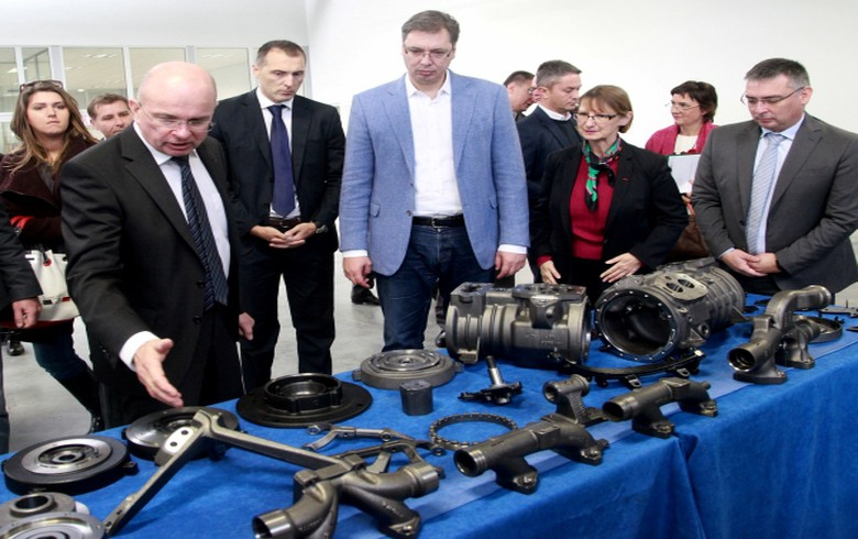 France's Mecafor opens 4 mln euro car parts plant in Serbia