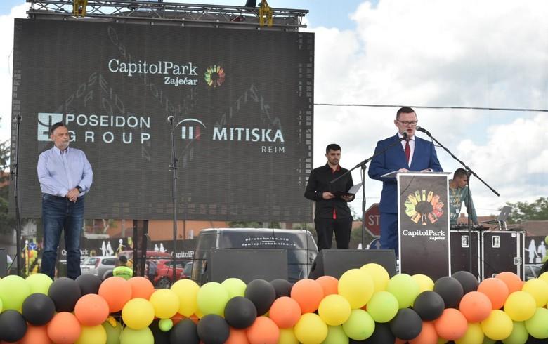 Poseidon Group opens 10 mln euro retail park in Serbia's Zajecar