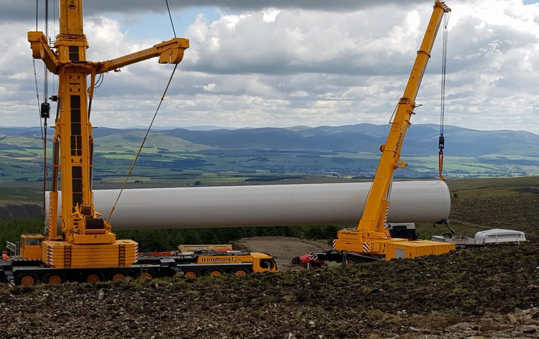 to-the-point: All turbines up at 31-MW Scottish wind park